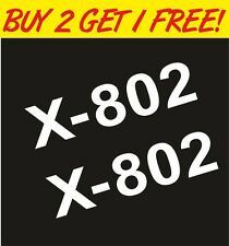 2 x X-802 Visor X Lite Helmet Moto GP Vinyl Motorcyle Decal Sticker Graphic