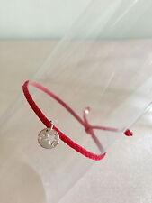 """Bracelet Cordon / Lien Rouge Charm  """"Etoile"""" argent 925"""