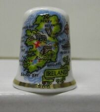 Ireland Map of Ireland Thimble Fine Porcelin