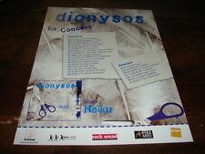 DIONYSOS - PUBLICITE HAIKU - EN CONCERT !!!!!!!!!!!!