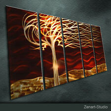 Shining Metal Wall Art Handmade Painting Sculpture Indoor Outdoor Decor-Zenart