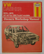 1974-1975 Haynes VW Dasher Owners Workshop Manual All 1471cc (89.7 cuin) models