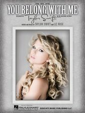 You Belong with Me Sheet Music Piano Vocal Taylor Swift NEW 000353960