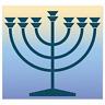 """Menorah Jewish Judaism car bumper sticker decal 4"""" x 4"""""""