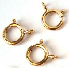 20pc 5.5mm 14k gold filled 1/20 GF round Spring Ring Clasp open jump ring GT16