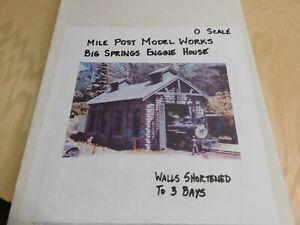Mile Post Model Works Big Springs Engine House O Scale Kit #1817