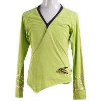 Star Trek TOS Kirk Green Wrap Command Uniform Shirt Halloween Cosplay Costume