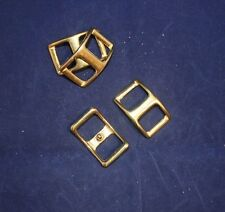 """3/4"""" Conway Buckle Assortment Pack - Solid Brass - Set of 4 (F140)"""