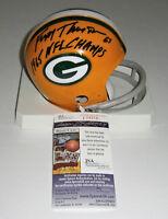 PACKERS Fuzzy Thurston signed mini helmet w/ 1965 NFL CHAMPS JSA COA AUTO