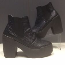 Topshop Black Wedge Ankle Boots UK Size 6 EUR 39