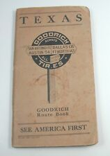 New ListingGoodrich Texas Map Book 1917 Route Book Vintage