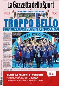 La Gazzetta Dello Sport-12 Luglio 2021-TROPPO BELLO ITALIA CAMPIONE-NUOVO