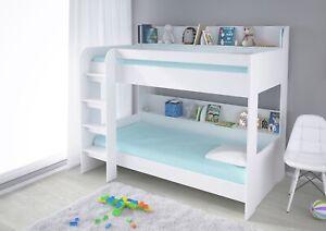 Polini Kids Hochbett Jugendbett Kinderbett Etagenbett weiß 90x200cm