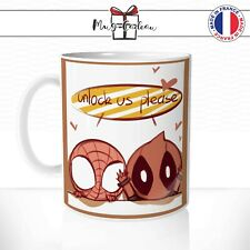 Mug Spiderman Deadpool Héros - Tasse personnalisée - Idée Cadeau Original Café