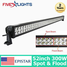 52INCH 300W LED WORK LIGHT BAR S/F COMBO DRIVING OFFROAD BAR 4WD TRUCK JEEP SUV