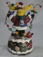 CHRISTMAS HAPPY MOOSE MUSIC BOX
