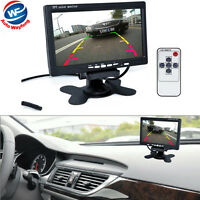 "7"" TFT LCD Color HD Mirror Monitor for Car Reverse Rear View Backup Camera DVD"