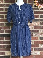 GAP **XS** Navy, Blue & White Dot Pattern Shirttail Short Sleeve Dress **NEW**