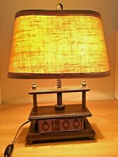 Vintage Book Press Table Lamp WORKS Literature Bourrienne Napoleon Library Desk