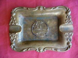 ancien cendrier touristique en laiton , souvenir de NICE ca1900