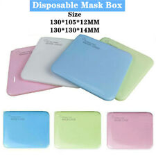 Portable Face Mask Case Face Shield Holder Storage Box Travel Organizer Clean