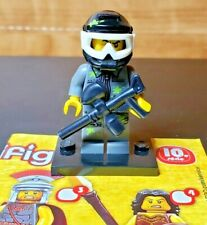 Lego Minifigures - Series 10 - Paintball Player Soldier Authentic New Minifig