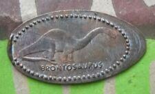 Brontosaurus elongated penny Ridgefield Nj Usa cent Vince Lombardi Service Area
