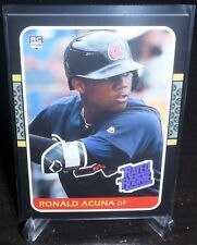 Ronald Acuna Jr. Aceo RP Oddball Card 87 Donruss Designed Rookie Atlanta Braves