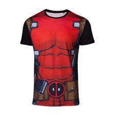 Marvel Comics Deadpool Mens Suit Sublimation T-shirt Medium Multicolour