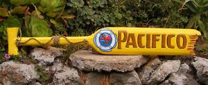 "Pacifico Beer Wood Paddle Beer Sign Nautical Tiki Bar Sign Pub Man Cave 39"""