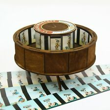 Praxinoscope. Optical antique toy with set of 10 animation strips