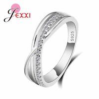 Zirkonia Kristall Ring 925 Sterling Silber Elli Damen Wickelring Geschenkidee