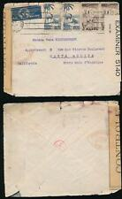 FRENCH MOROCCO 1941 DOUBLE CENSORED via BERMUDA to SANTA MONICA USA
