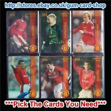 Premier League Manchester United 1998 Season Soccer Trading Cards