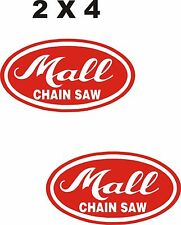 ON SALE   2- MALL CHAIN SAW  VINYL DECAL