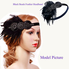 Great Gatsby 1920s Flapper Dress Party Accessories Vintage Style Sequin Headband
