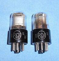 2 NOS RCA 1A5-GT VT-124 Vacuum Tubes - 1942 Vintage Radio Audio Power Pentodes