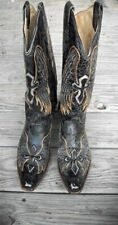 CORRAL VINTAGE WINGED CROSS A1967 C3 WOMEN'S BOOTS: SZ: US 11 M ~ NICE BOOTS