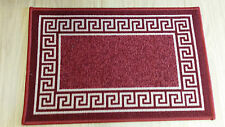 Door Mat Machine washable Non Slip Kitchen/Bathroom Floor Rug 40X60cm Red