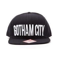 AWESOME DC COMICS BATMAN 'GOTHAM CITY' BLACK SNAPBACK CAP HAT *BRAND NEW*
