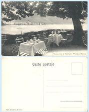 Terrasse de la Confiserie Wiedmer Clarens Montreux Switzerland c1910 Postcard