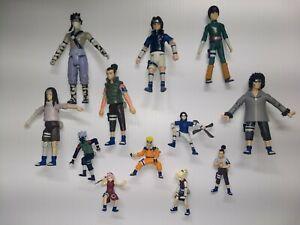 Naruto mattel figure kiba sasuke rock neji shikamaru zabuza shonen jump mini lot