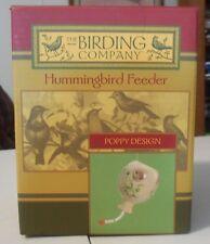 NEW Ceramic Hummingbird Feeder, The Birding Company, poppy design 10 oz