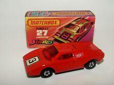 Matchbox Superfast No 27 Lamborghini Countach Red Red Glass 3 Label EXIB RARE
