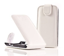 Housse Etui Coque Luxe (BLANC) ~ Samsung GT i9000 Galaxy S
