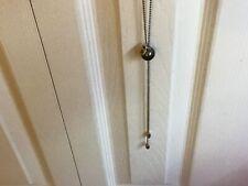 """NWT Uno de 50 Gray Pearl Lariat Thin Chain Necklace """"Crescent"""""""
