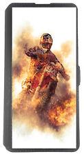 Etui Housse Book pour Huawei P9 lite mini avec support Noir Moto cross