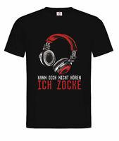 Unisex T-Shirt -Kann dich nicht hören-Ich zocke-Zocker Headset Gamer