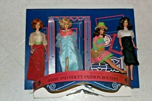 RARE 1970 VINTAGE BARBIE STORE DISPLAY 4 DOLLS Barbie Stacey Fashion Boutique