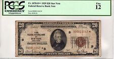 1929 $20 Twenty Dollar Federal Reserve Bank Note STAR PCGS 12 Fr 1870-B*